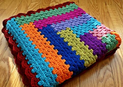 Holland handmade granny log cabin blanket finished for Log cabin blanket