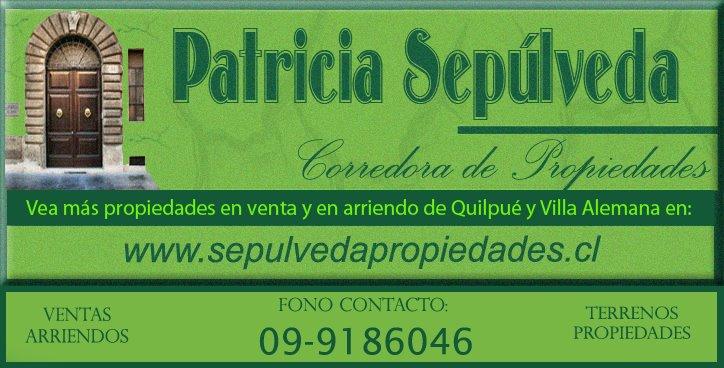 Patricia Sepúlveda, Corredora de Propiedades 09-9186046 - Ventas y arriendos en la V región