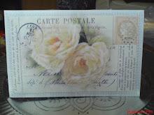 Den här fina korten med mina fav. blommor på fick jag från Christa