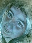 Retrato de mi hija Carla pintado por Luisa, una gran artista