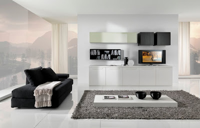 Living Room Furnishings on Modern Black And White Furniture For Living Room From Giessegi
