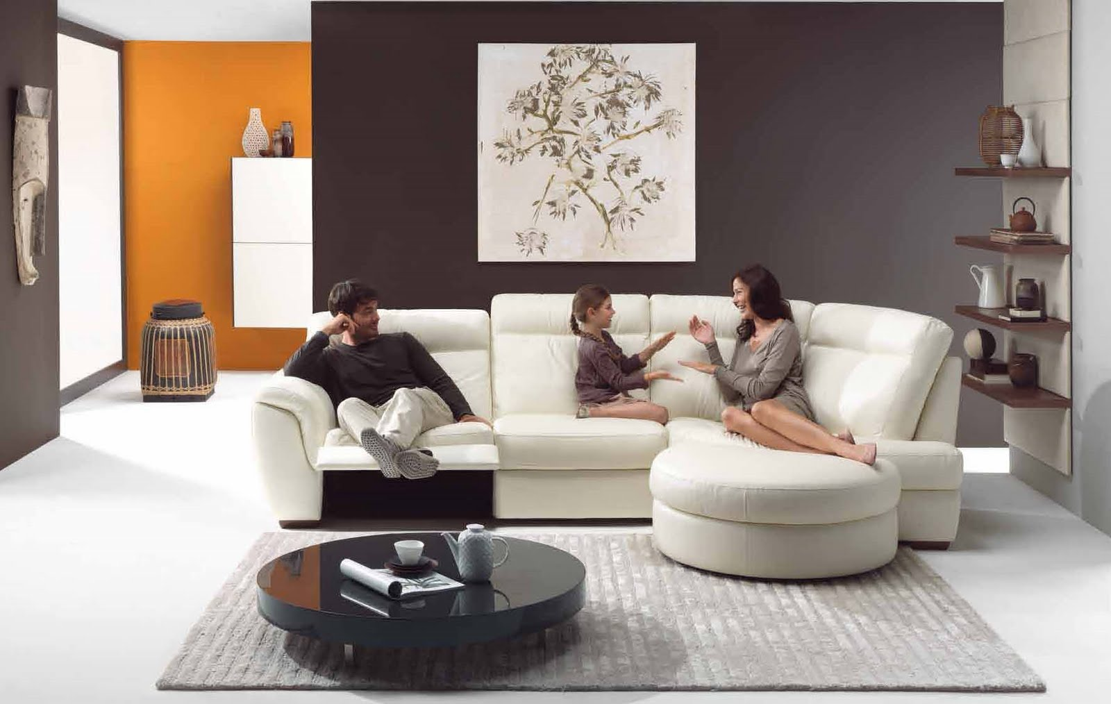 Future House Design: Modern Living Room Interior Design Styles 2010 By  Natuzzi