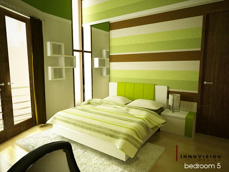 Green color bedrooms interior design ideas interior for Green bedroom design