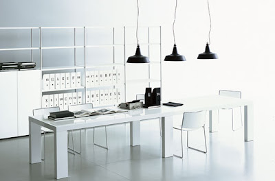 Contemporary Office Furniture  Home on Ideas  Contemporary Black And White Home Office Furniture Design