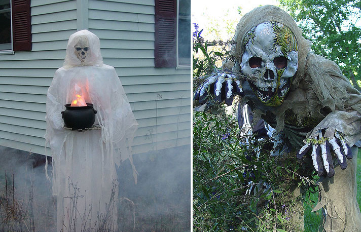 Beautiful outdoor halloween decorating ideas interior Scary halloween decorating ideas inside