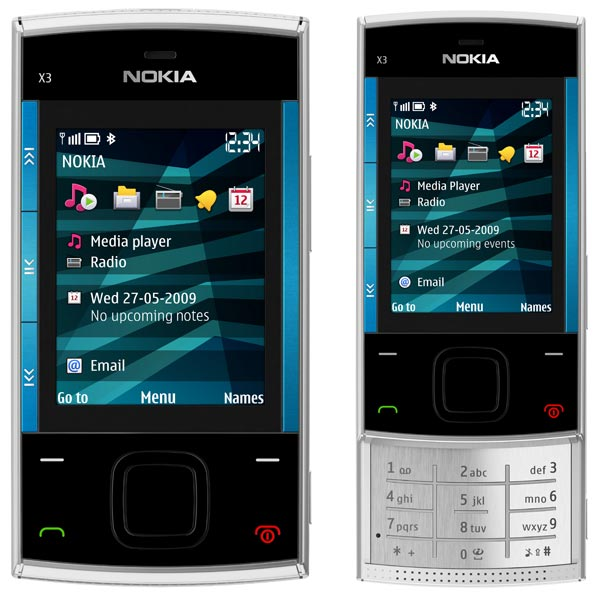 Nokia X3 has 3.2megapixel camera.it is a slider mobile phone.
