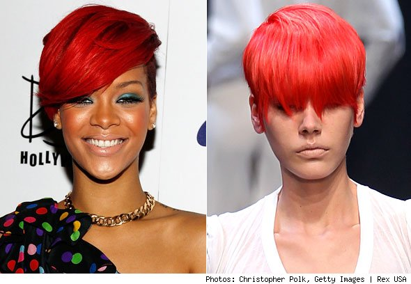 rihanna pictures red hair. rihanna hair red.