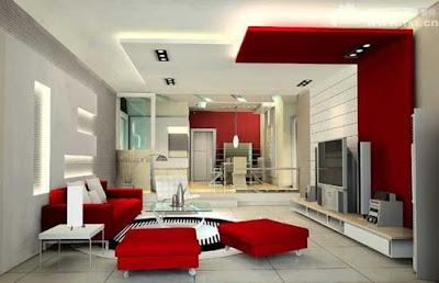 Living Room Ideas on Interior Design  Modern Red And White Living Room Design Ideas