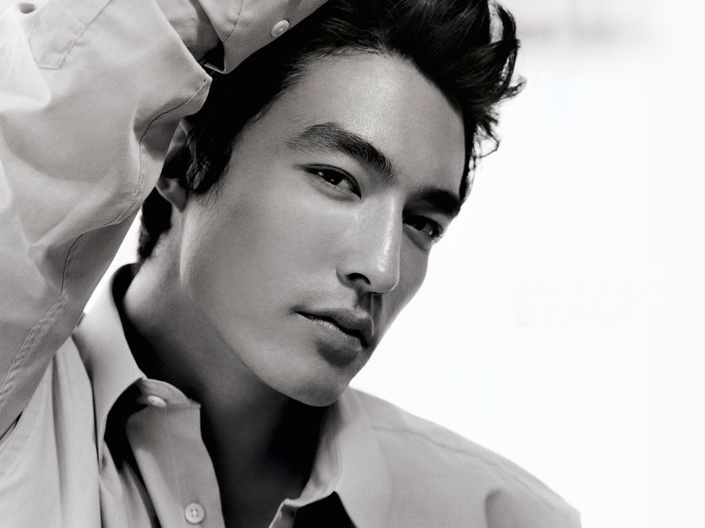 ... korean american model actor and david gandy a british male model