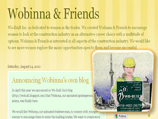 Wobinna, Our Animated Tradeswoman & Friends Have Their Own Blog, by wobuilt