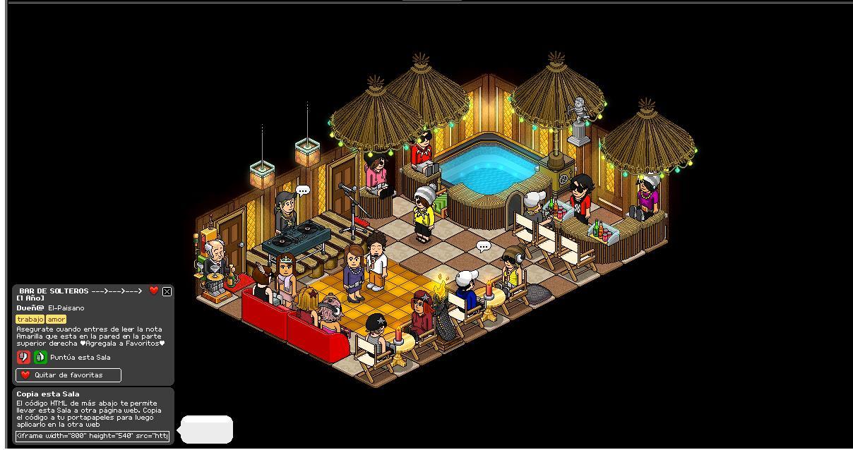 Como Hacer Una Sala De Estar Habbo ~ las mejores salas de habbo Bar de solteros