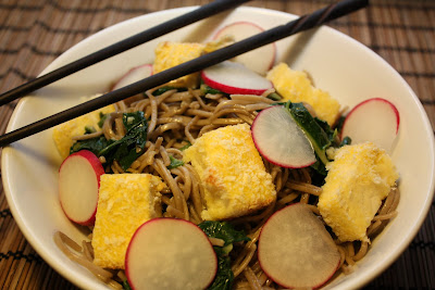 Six By 10 Tiny Kitchen: Garlic Soba Noodles With Tofu