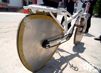 Wheeled Bicycle on Fifo Riders  Muti Angle Wheel Bicycle Appears In Qingdao