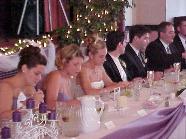 Head Table Usually includes the bride groom and bridal party