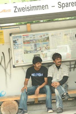Actor Vijay and Actress Nayanthara in Director Prabhu Deva's Villu movie Shooting spot