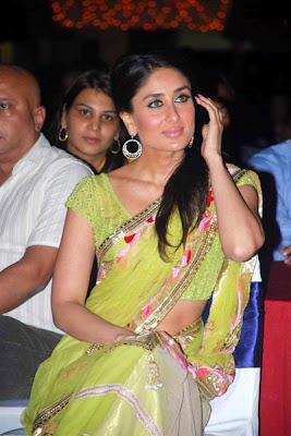 Hot and Sexy Kareena Kapoor and Her pretty green sari