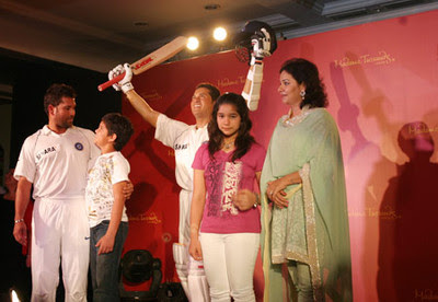 Sachin Tendulkar is the first Indian sports personality to be portrayed at Madame Tussauds, in London