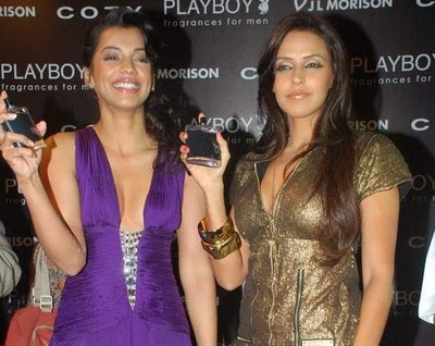 Bollywood Actress Neha Dhupia and Mugdha Godse Launch Playboy Perfume