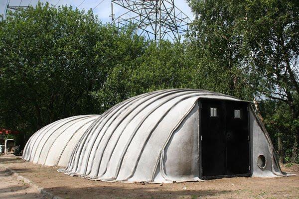 Large Concrete Shelter : On art etc concrete cloth