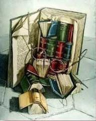 mis libros tan desordenados siempre cuando los vuelvo a leer !!!