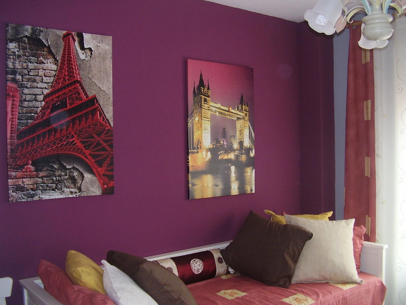 Berenjena y verde y con naranja decorar tu casa es for Pintura color berenjena
