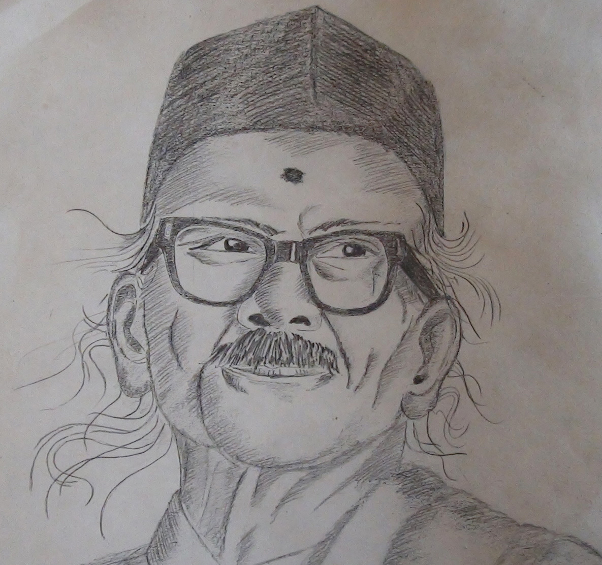 Pencil sketching portrait of shri d r bendre kannada poet xplore xpress