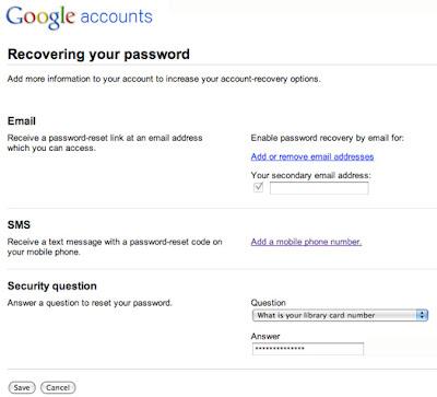 forgot google password no phone