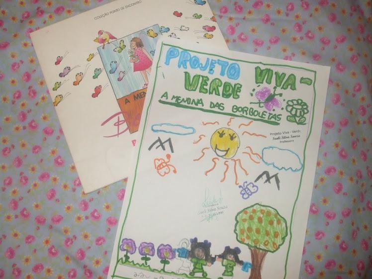 Desenho da aluna Fabiana sobre a História A Menina das Borboletas - 23-9-2010