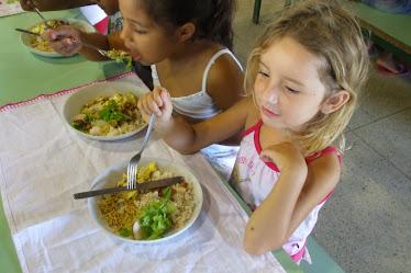 Preparação da salada com o alface da horta - 2008