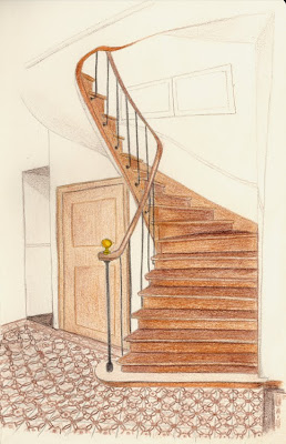 si j 39 avais un blog instructions pour dessiner un escalier. Black Bedroom Furniture Sets. Home Design Ideas