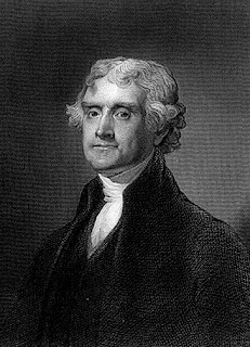 Thomas Jefferson - white and black