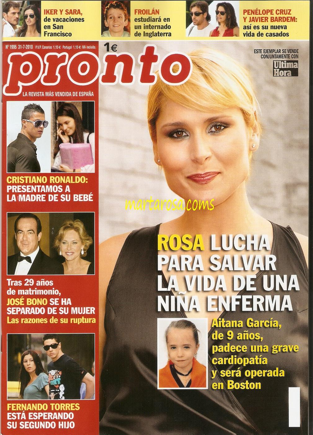 Desterrad portada de la revista pronto con aitana for Revista pronto primicias ya