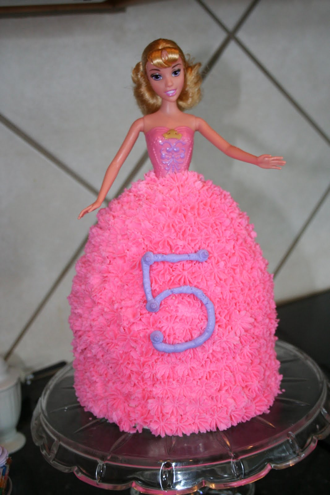 Ginnies Gems Granddaughters 5th Birthday Barbie Cake