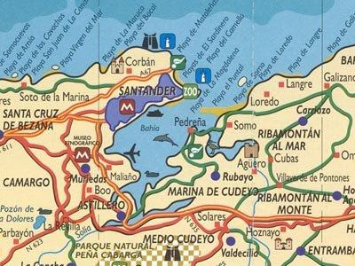 Go travel planet santander cantabria for Mapa santander sucursales