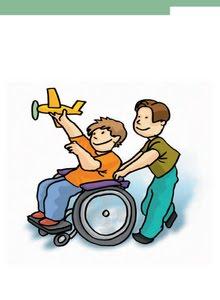 Los niños discapacitados...