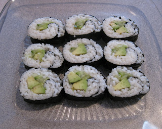 Cucumber rolls with avocado, because I can't get enough of avocado ...