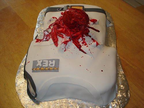 How To Make Chestburster Cake