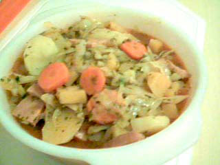 All-in-one sausage pot with root vegetables
