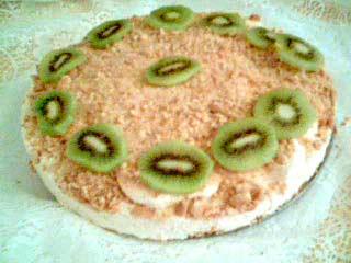 Frusen Cheesecake med Kiwi