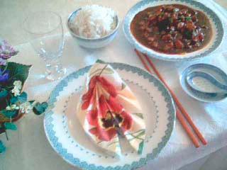 Dukat för kinesisk middag