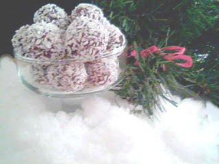Chokladbollar med mandelmassa