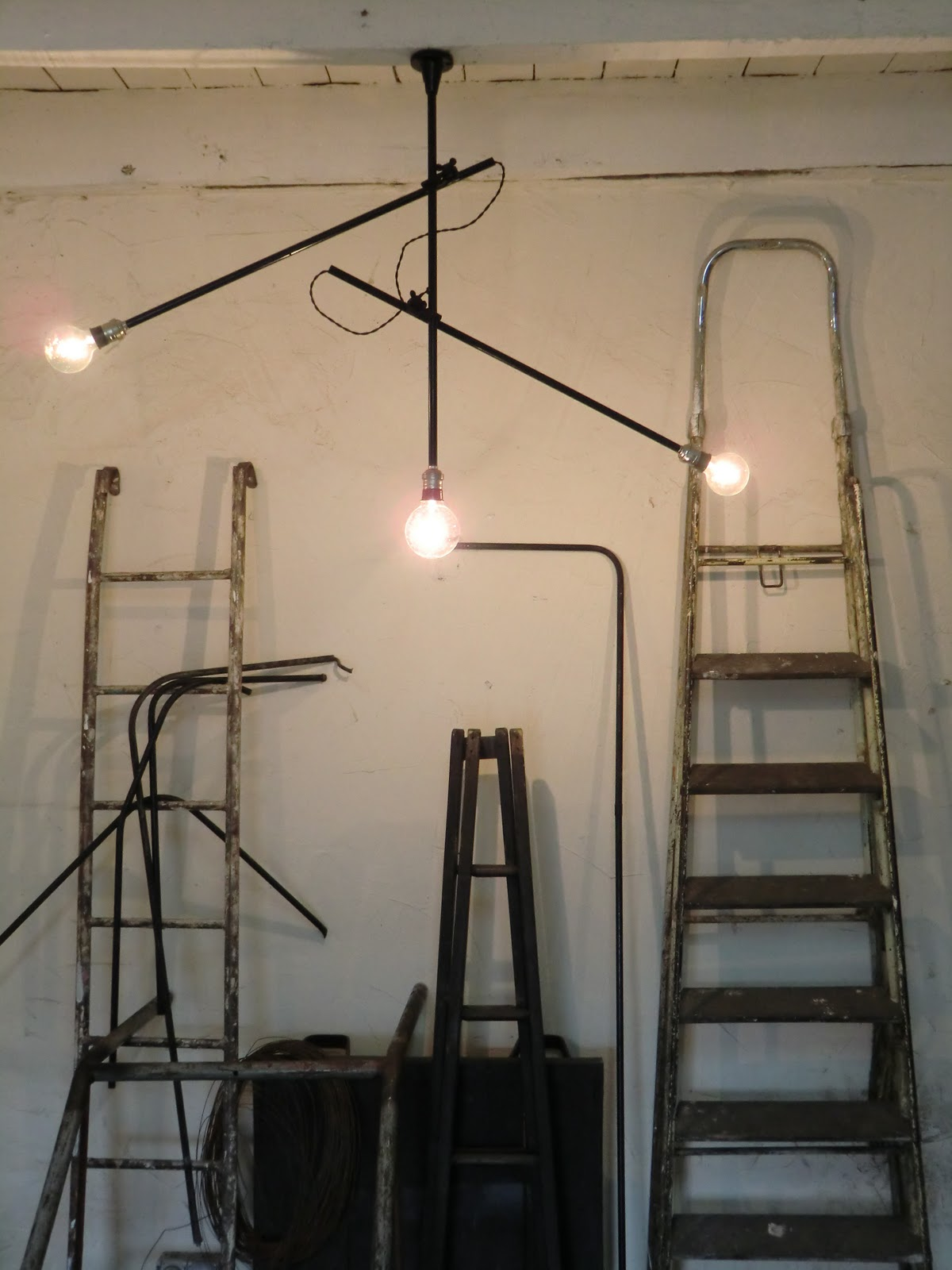 Wo and w collection suspension industriel vintage for Plafonnier 3 suspensions