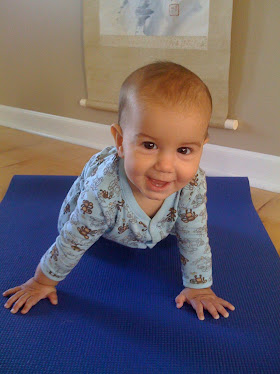 Baby Jai Doing Yoga