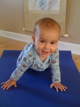 Baby Jai Doing Yoga