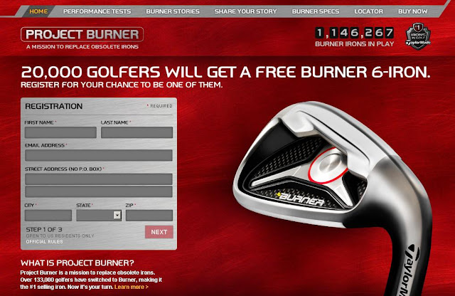 TaylorMadeGolf.com/ProjectBurner - Taylor Made Golf Project Burner Giveaway