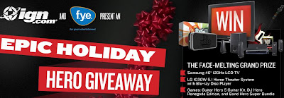 Www.fye.ign.com - Epic Holiday Hero Giveaway