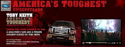 Fordvehicles.emipowered.net America's Toughest Tour Sweepstakes