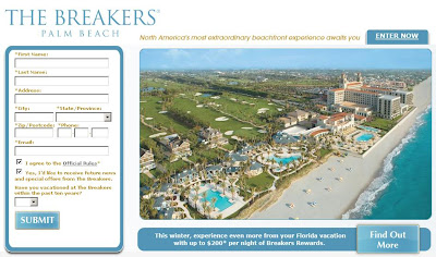 Www.thebreakers.com - Breakers Dream Vacation Sweepstakes