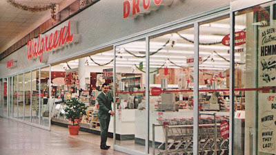 Pleasant Family Shopping: Walgreens at Christmastime, 1965