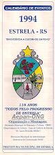 Estrela-RS - Calendário de Eventos 1994